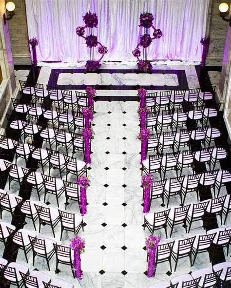 Wedding ceremony in purple, black and white   Ceremony