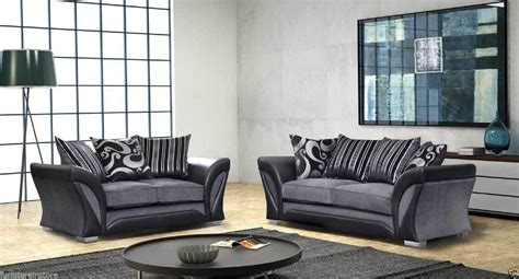 dfs safari sofa shannon sofa range 3 2 1 seaters black and grey also in