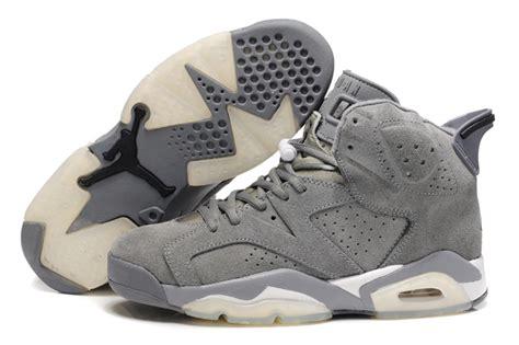 Asli Original Air 5 Retro Suede Original Original Air 6 Suede Grey White Shoes Naj055