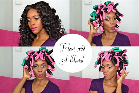 curling puddingusing rods flexi rods tutorial how to get heat free effortless