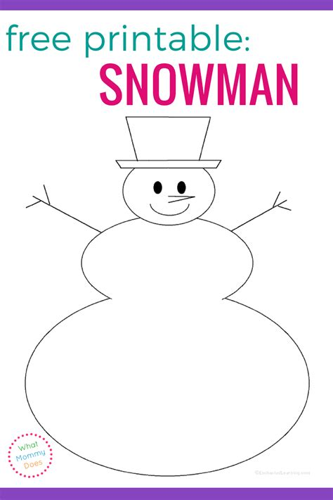 free printable snowman writing template free blank snowman templates what mommy does