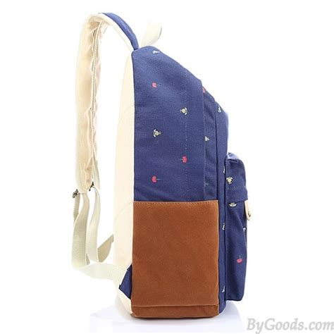 Floral Printed Canvas Backpack fresh fashion floral printed canvas travel backpack