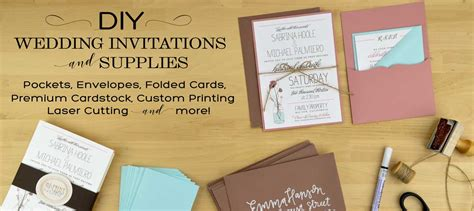 diy wedding invitations printing cards pockets diy wedding invitation supplies