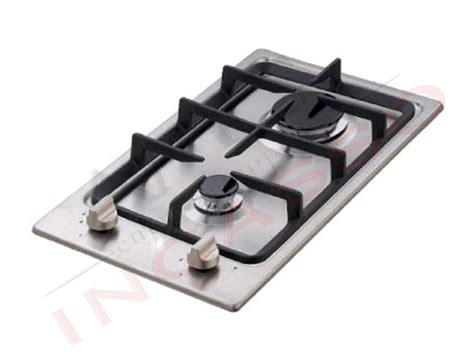 piano cottura a due fuochi piano cottura cucina domino cm 30 2 fuochi acciaio inox