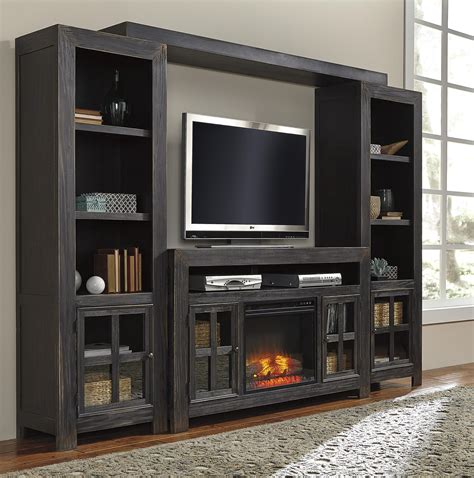 Wall Unit Entertainment Center With Electric Fireplace by Entertainment Wall Unit W Large Tv Stand Fireplace