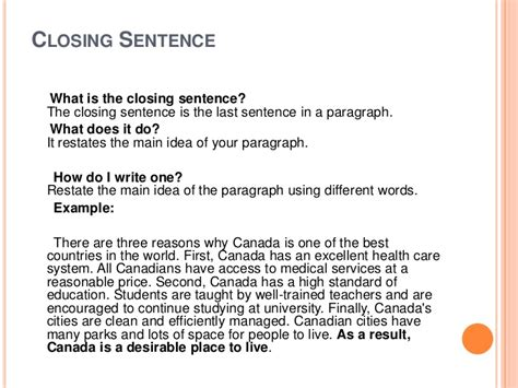 Closing Letter Sentence Closing Sentences For Essays On Education