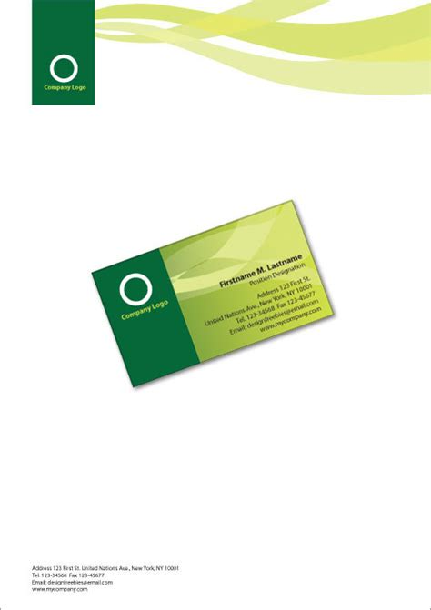 business letterhead and business cards free illustrator templates more business cards and