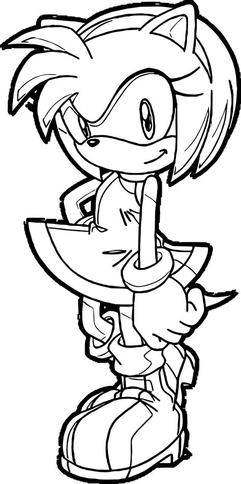 amy rose coloring pages online amy rose one coloring pages wecoloringpage