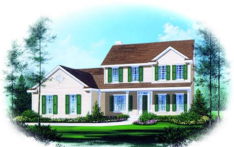 Traditional House Plans Two Story by Two Story Traditional Home Plan Design 2289sl 1st