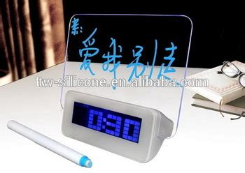 Jam Alarm Lcd Display Alarm Clock With Memo Board scribble memo board alarm clock with mood light buy scribble memo board alarm clock mood light