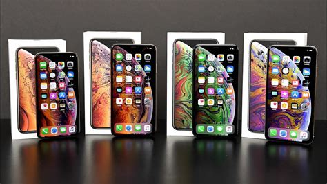 apple iphone xs vs xs max unboxing review all colors