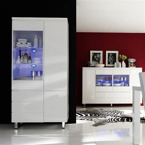 Display Cabinets In Sydney Sydney Display Cabinet In High Gloss White With Led Lights