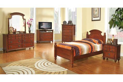 bedroom sets freemont cherry twin size bedroom set newlotsfurniture