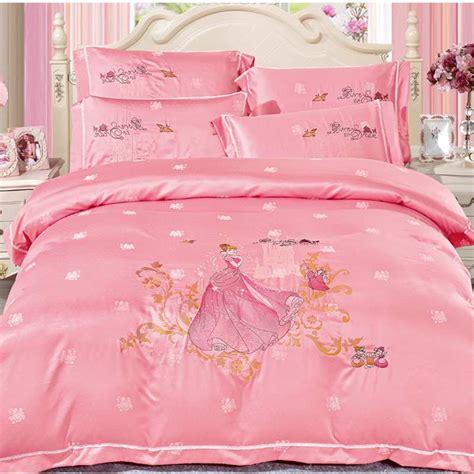 Pink Satin Bedding Sets Princess Pink Satin Bedding Set Luxury 4pcs Tencel Silk Quilt Duvet Cover Jacquard Bedclothes