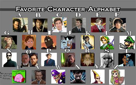 Alphabet Meme - favorite character alphabet meme by the observant nerd on