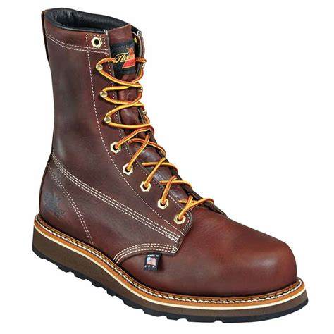 thorogood usa 8 inch dual density wedge work boot