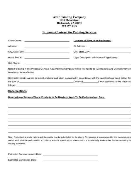service contract sle snow removal contract template