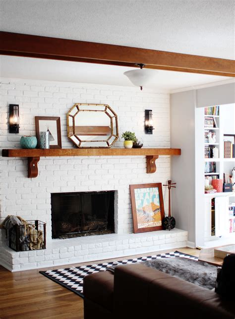 white painted brick fireplace white brick fireplace home decorating diy