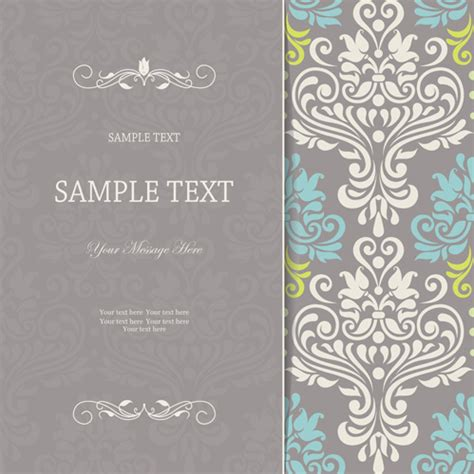 design patterns invitation cards vector vintage borders for invitations free vector