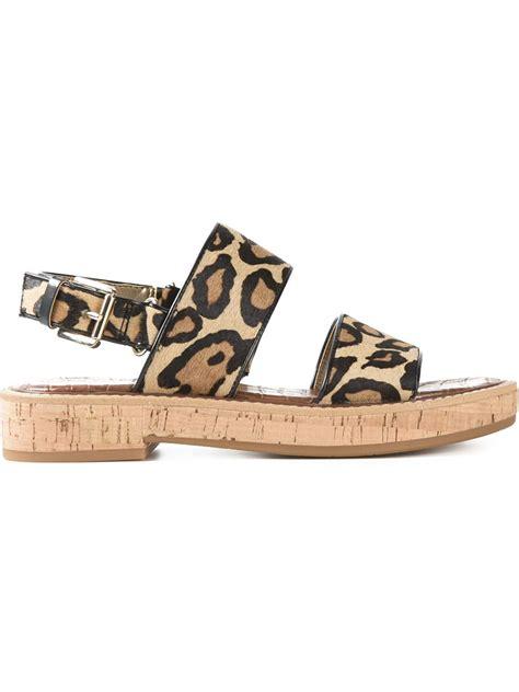 sam edelman leopard sandals sam edelman nia leopard print sandals in beige