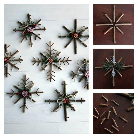 twig crafts for wonderful diy rustic twig snowflakes