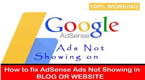 adsense not showing on wordpress how to fix google adsense ads stopped working 100 solved