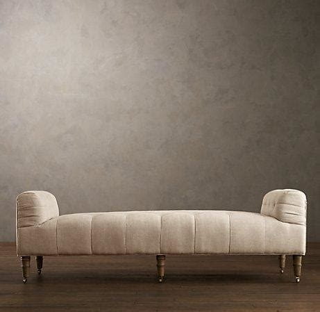 restoration hardware tufted ottoman camille tufted settee ottomans benches restoration