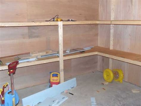 build room building a basement storage room with built in shelving