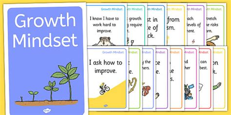 Growth Mindset Statement Posters Pshe Facts Posters Growth Mindset Template