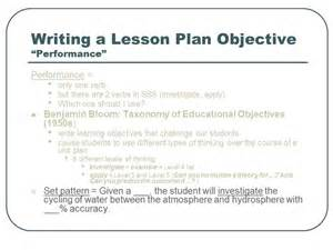 doc 638826 lesson plan objectives sample lesson plan