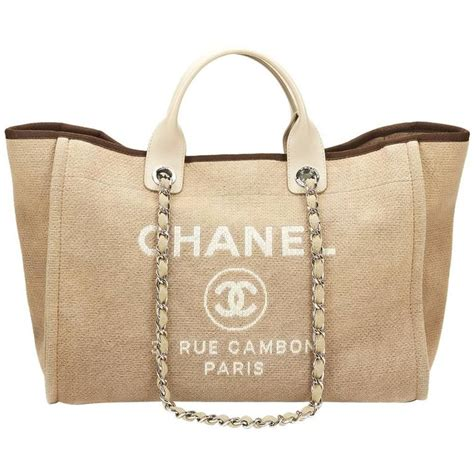 Chanel Deauville Shopping Tote Bags 972 2013 chanel beige canvas large deauville tote at 1stdibs