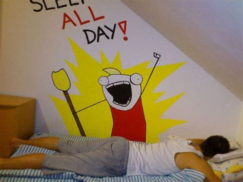epic meme bedroom decoration sleep  day