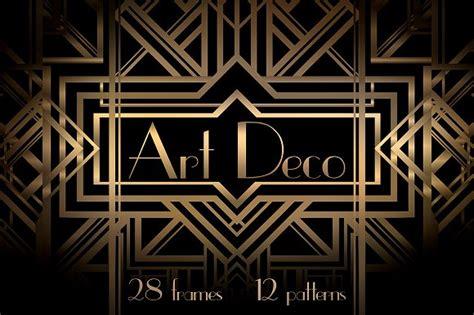 Art Deco Frames And Patterns Patterns Creative Market   art deco frames and patterns patterns creative market