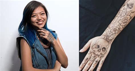 cheap tattoo in singapore she draws temporary tattoos using fruit ink earns up to