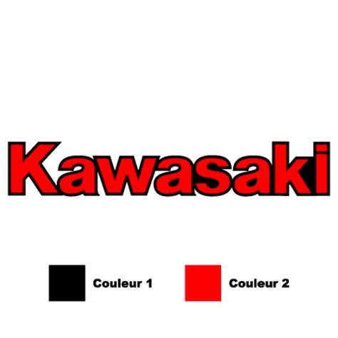 Sticker Kawasaki Rouge by Sticker Moto Kawasaki Logo En 2 Couleurs Au Choix