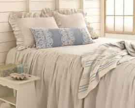 pine cone hill linen chambray dove grey bedspread