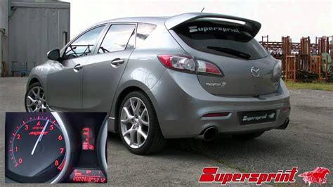 mazda 3 mps exhaust mazda 3 mps 2 3i turbo 09 supersprint exhaust