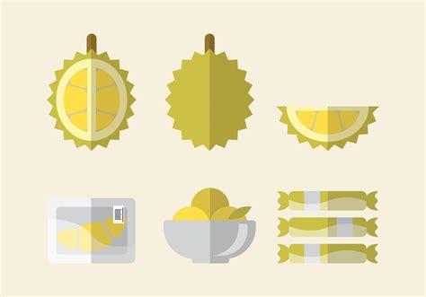 vector durian set   vectors clipart