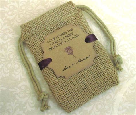 burlap wedding favor bags personalized makes the - Wedding Favor Burlap Bags