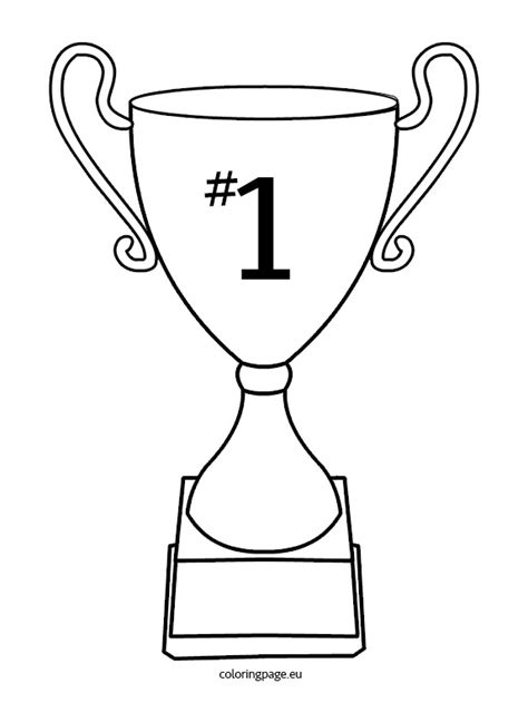 nba trophy coloring pages cup trophy coloring page
