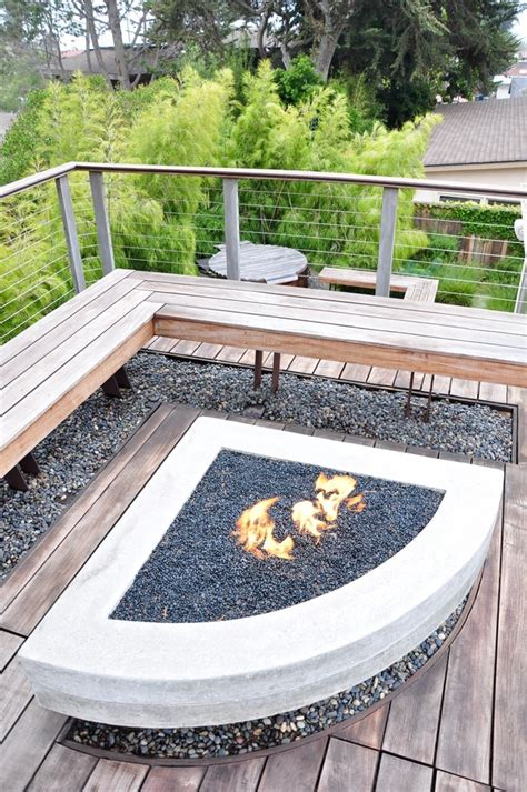 pit contemporary wood burning pit deck contemporary with brown