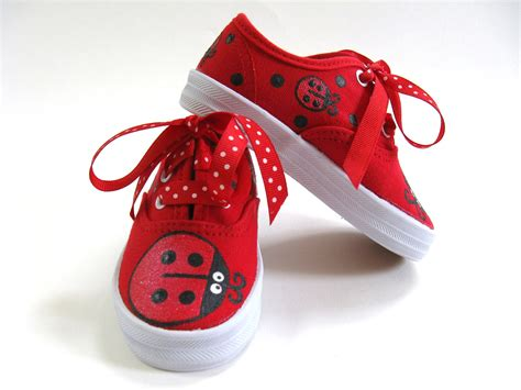 toddler clothes and shoes ladybug shoes painted canvas sneakers ladybird or