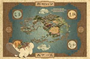 Avatar World Map by Huge Map Of Avatar World With Tla Episode Tags