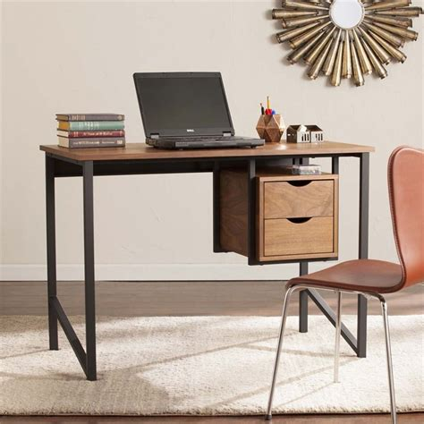 southern enterprises writing desk southern enterprises waypoint writing desk in gray oak and