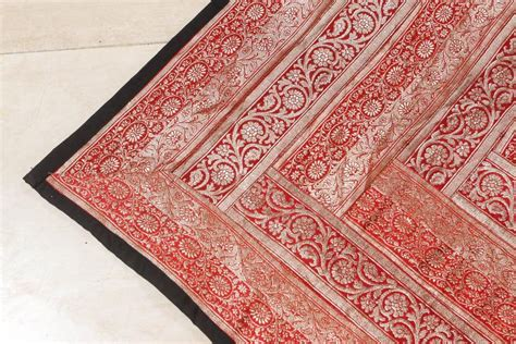 Silk Patchwork Quilt - indian silk sari tapestry quilt patchwork for sale at 1stdibs