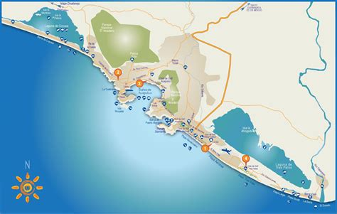 map acapulco mexico acapulco tourist attractions map