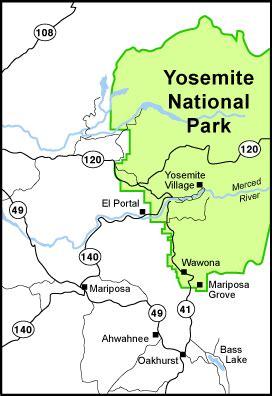 map of yosemite area trips 4