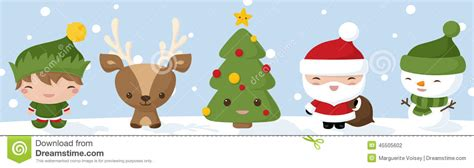 imagenes kawaii de navidad kawaii christmas icons stock vector image of smiling