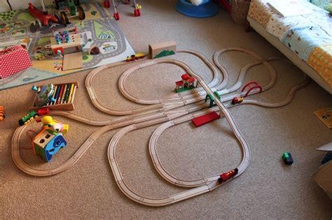 brio train track layout wooden track mind