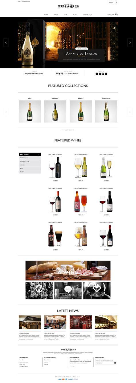 shopify themes wine responsive shopify theme wineyard by tvlgiao themeforest